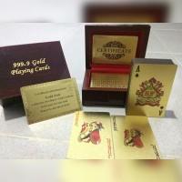 Kartu Permainan Poker (Remi) Lapis Emas 24k + Box Exclusive