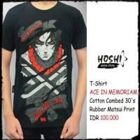 T-Shirt Distro Kaos Anime ACE IN MEMORIAM