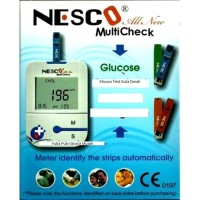Alat Nesco Cek Gula Darah / Tes Diabetes / ALL NEW NW03 Bonus strip 25