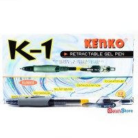 Kenko Pulpen K-1 0.5mm - Tinta Hitam 1 Box (12 pcs)