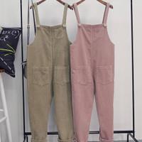 jumpsuit highwaist dress wanita terusan baju kodok import cute pink