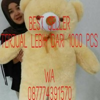 BONEKA TEDDY BEAR SUPER JUMBO CREAM 100CM