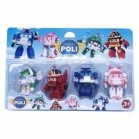 Mainan Anak Robocar poli figure karet