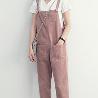 baju kodok jumpsuit jeans celana panjang slim fit korea fashion import