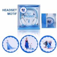 Headphone Karakter / Headset Cartoon / Headset Bando Motif Frozen
