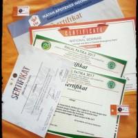 sertifikat A5 linen krungkut coronado seminarkit seminar