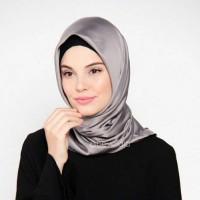 hijab jilbab segi empat organza satin velvet
