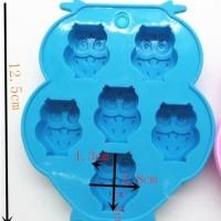Cetakan Silikon Motif Burung Owl (6 Kotak) Murah
