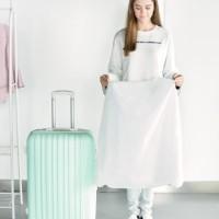 Cover / Pelindung Koper Kain Putih Semi-Transparan (28 Diskon