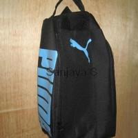 PROMO !! Tas Sepatu Futsal Bola Gym Fitness Puma Hitam Biru murah