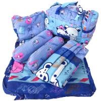 IMPORT ASLI - Tas Bantal Guling Gendongan Alas Tidur Perlak Bayi Set