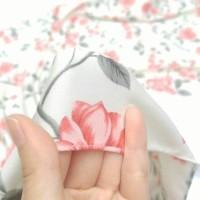 Kerudung Segiempat Motif Sakura Salem / Hijab / Jilbab Murah
