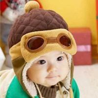 Topi pilot hat kupluk bayi baby anak kids balita toddler beanie korean
