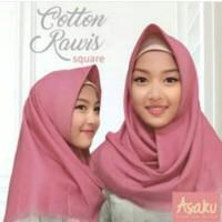 Jilbab/hijab segiempat Cotton Square polos