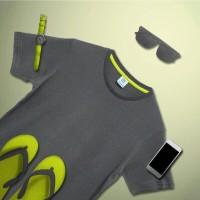 Kaos Polos Koze Combed 30 s ( Premium Comfort Dark Grey )