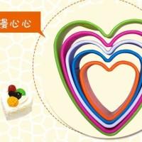 Set Cetakan Plastik 5-Ukuran Motif Hati Terbaik