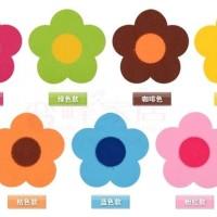 Alas Cangkir / Mangkok Motif Bunga 5-Kelopak (9cm) Limited