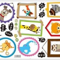 Set Stiker Dekorasi Dinding Motif Bingkai Foto Kartun H Diskon