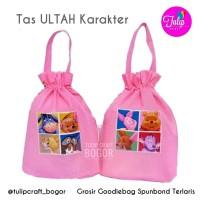 Goodiebag Spunbond Ulang Tahun Anak 25x30cm Pink