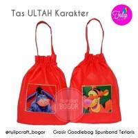 Tas Ultah 25x30cm Merah Goodiebag Spunbond Ulang Tahun