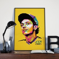 POSTER Rossi Limited Edition WPAP - UKURAN A0 -