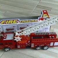 Mainan mobil pemadam kebakaran fire truck bump n go