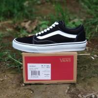 Sepatu Vans Oldskool Black White Premium Original
