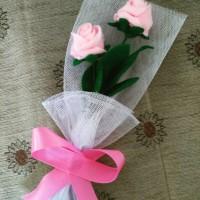 Buket mawar flanel untuk hadiah wisuda, ultah, anniv, dll (READY)