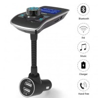 Bluetooth Receiver Stereo Radio-T12 FM Transmitter Wireless Car