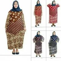Daster Muslim Jumbo Longdress Adem dipakai BB 70-100 LD 140cm