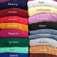 Gamis Polos Super Jersey (Syahira Dress)