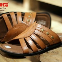 sandal pria kickers webber concept tan sz 39-44 leather