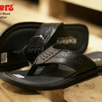 sandal pria kickers rempel concept black sz 39-44 leather