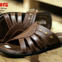 sandal pria kickers webber concept brown sz 39-44 leather