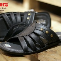 sandal pria kickers webber concept black sz 39-44 leather