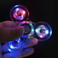 BIG PROMO Hand Fidget Spinner Lampu Transparan Fidget Toys Spiner