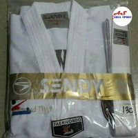 Baju Taekwondo Kerah Putih Sendy / Dobok Dogi Tekwondo / Fighter Two