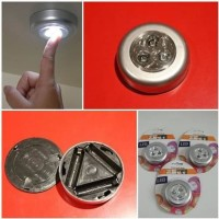 PROMO LED Tempel Darurat Stick and Click Touch LED Lamp AAA