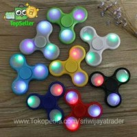 (Diskon) Fidget Spinner / Hand Spiner Lampu LED ON/OFF