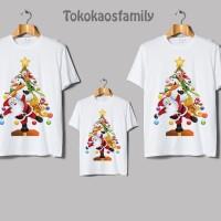 kaos natal couple christmas anak dan dewasa