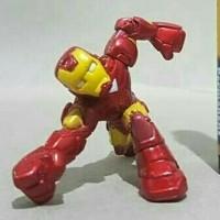 Mainan action figure superhero squad Ironman Tinggi sekitar 2 inch Art