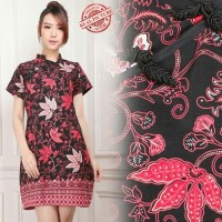 Midi Dress Batik Xin hua Short Dress Wanita