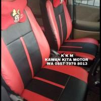 Sarung Jok Mobil Suzuki Aerio Freelander Kombinasi Bintik