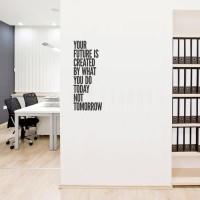 Wall Stiker Dinding Kaca Quotes House Future Rumah Kamar Sticker