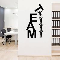 Wall Stiker Dinding Kaca Motivasi Quotes Team Work Kantor Sticker