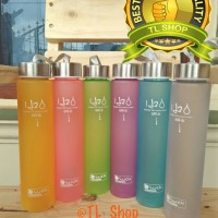 BOTOL MINUM H2O PLASTIK DOFF COLOURFULL 280ML-TLSHOP