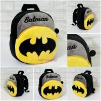 Tas Ransel Boneka Import Anak Sekolah Paud 25cm Karakter Batman