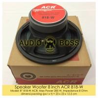 """Speaker Woofer 8 inch ACR 818-W / Speaker Woofer ACR 8"""" 818 200W"""