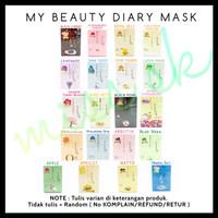 [ SACHET ] My Beauty Diary Face Mask korea ( masker wajah diary )
