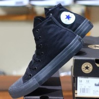 SEPATU CONVERSE ALL STAR HIGH CT2 FULL BLACK + BOX CONVERSE